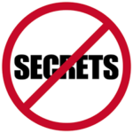 there is no secret sign