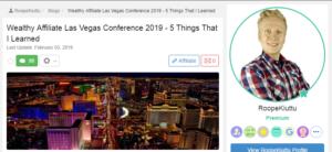 Roope's Las Vegas Blog