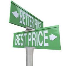 best price - better price - sign banner