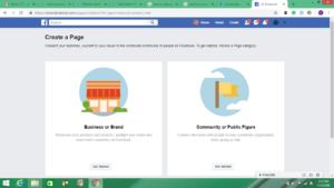 screenshot facebook business