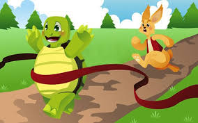 rabbit and turtle cartoon