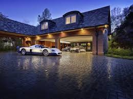 fancy house and cars