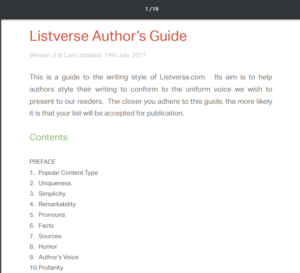 Listverse Authors Guide