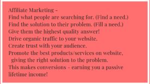 My Idea of Affiliate Marketing