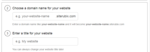 Choose Domain Name & Title for Website