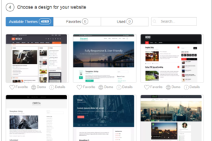 Choose a Theme for Website