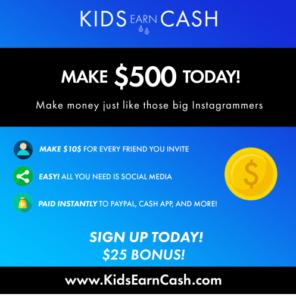 kids earn cash free