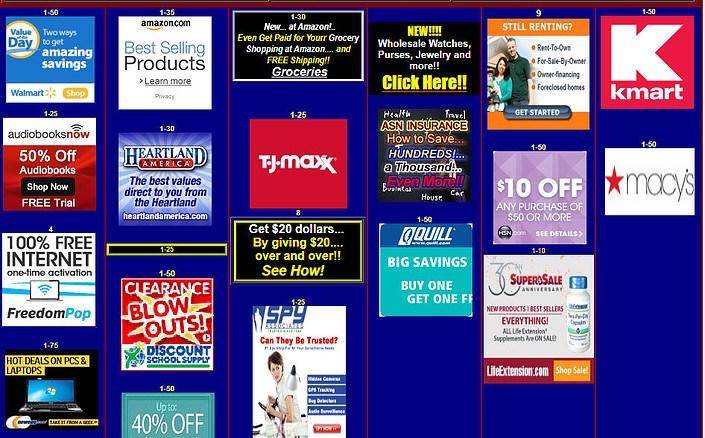 ASN Shopping Page