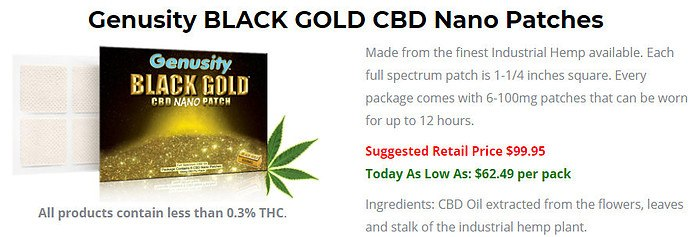 Black Gold CBD Nana Patches