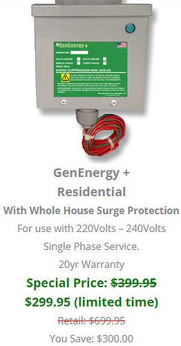 GenEnergy Plus With Surge Protection