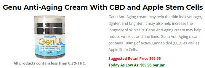 Anti-Aging Cream with CBD & Apple Stem Cells